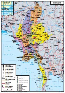 Birmanie Carte Regions.Presentation Generale De La Birmanie La France En Birmanie