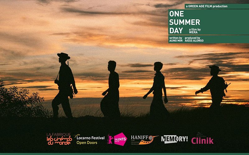 Affiche officielle du film One Summer Day, du réalisateur birman Wera Aung - JPEG